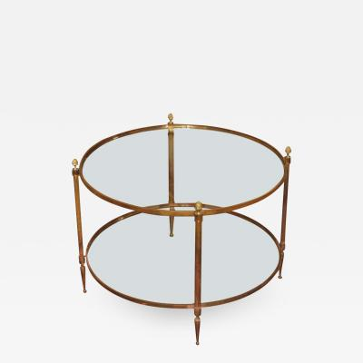 MID CENTURY ROUND COCKTAIL TABLE