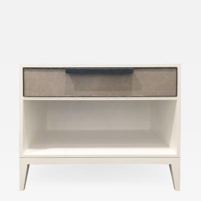 MILANO 1 DRAWER LEATHER NIGHTSTAND