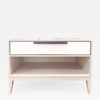 MILANO 1 DRAWER NIGHTSTAND WITH HAMMERED HANDLE
