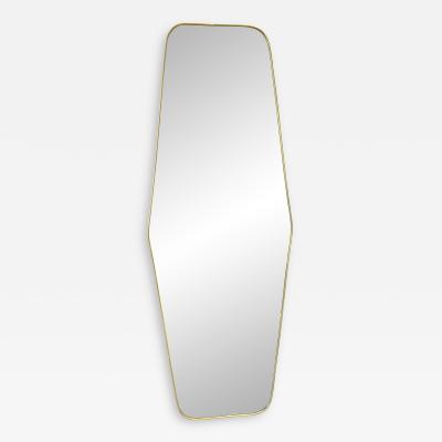 MId Century Oversize Sculptural Mirror Italy 1950