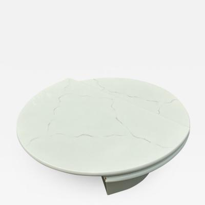 MODERN REVOLVING FAUX MARBLE COFFEE TABLE