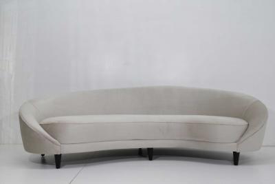 MUNARI Federi Italian Style Serpentine Sofa in Holly Hunt Silk and Camel Hair
