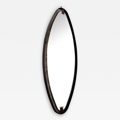 Ma 39s Oversized Iron Brass Oval Mirror
