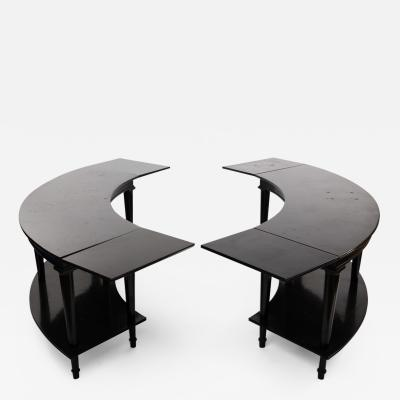 Madeleine Castaing Madeleine Castaing Pair of Side Tables with Foldable Ends