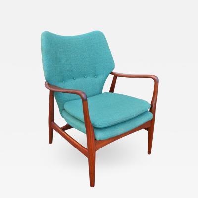 Madsen Sch bel Rare Madsen Schubell Sculptural Wingback Lounge Chair Teal Tweed
