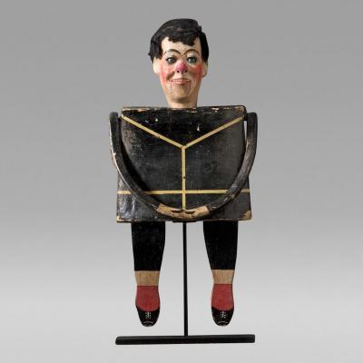 Magic Purse with Anthropomorphic Vaudeville Puppet c 1925