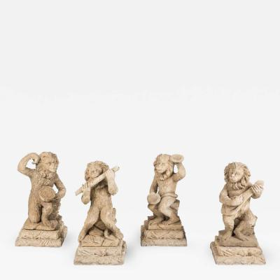 Magical Carved Stone Monkey band from the Palm Springs Estate of Jack Warner