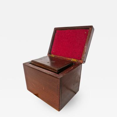 Magicians Trick Double Wood Boxes with Ties Circa 1890
