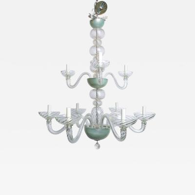 Magnificent Two Tiered Hand Blown Italian Murano Chandlier