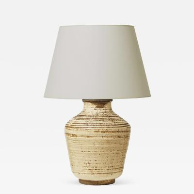 Magnificently Textured French Late Art Deco Modern Table Lamp in Craquel Ivory