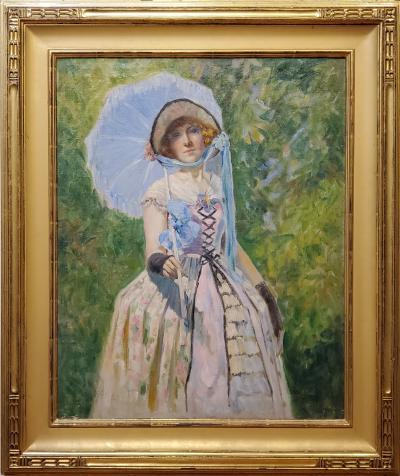 Magnus Bakke Portrait of a Woman An Oil Painting By Magnus Bakke dated 1924