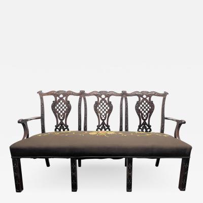 Mahogany 19th Century Georgian III Style Settee