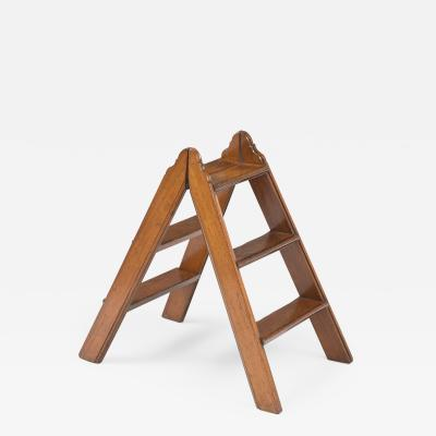 Mahogany Double Sided Folding Step Ladder Circa 1870