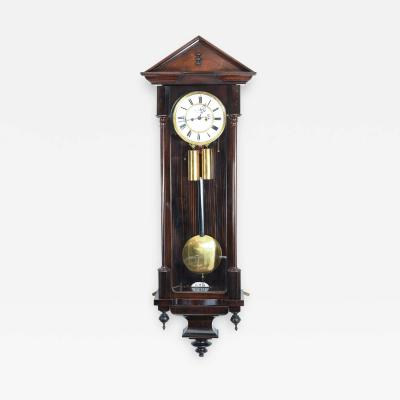 Mahogany Frame Vienna Regulator Wall Clock