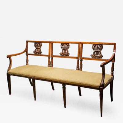 Mahogany Sheraton Style Settee