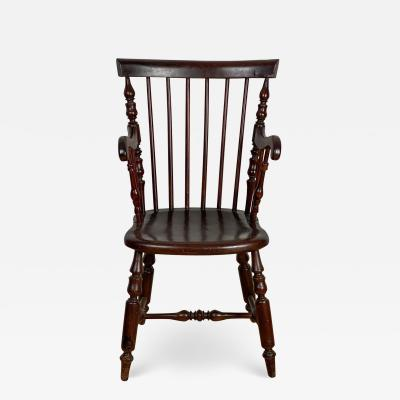 Mahogany Windsor Armchair Jamaica Circa 19th Century