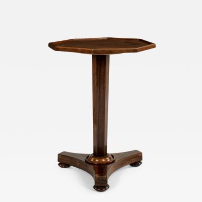 Mahogany and Rosewood Octagonal Top Pedestal Table