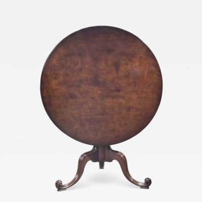 Mahogany tilt top tripod tea table in the manner of Chippendale