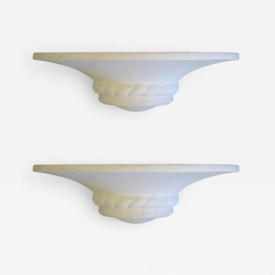 Maison Arlus 2 Pairs of Mid Century Modern Neoclassical Plaster Sconces Attributed to Arlus