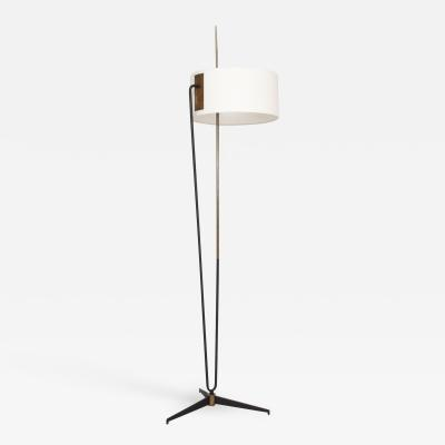 Maison Arlus French Floor Lamp style ARLUS FRANCE 1950s MODERN Sophisticate Steel Brass