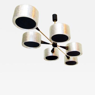 Maison Arlus Geometric French 1970s Chandelier by Maison Arlus