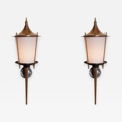 Maison Arlus Maison Arlus Pair of Wall Lights 1970s