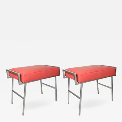 Maison Arlus Pair of 1960s stools by Maison Arlus