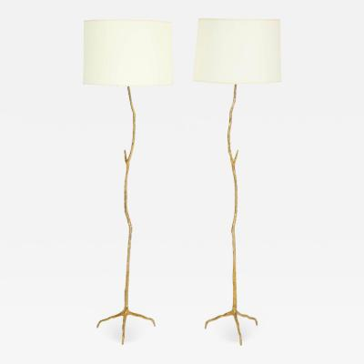 Maison Arlus Pair of Bronze Maison Arlus Twig Floor Lamps
