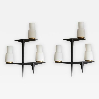 Maison Arlus Pair of Maison Arlus Wall Sconces