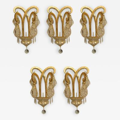 Maison Bagu s 5 French Art Deco style Octopus Wall Sconces Priced Each