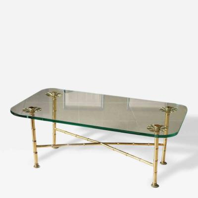 Maison Bagu s A Fine Maison Bagues Brass and Glass Low Table
