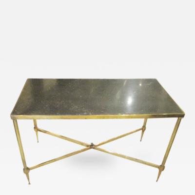 Maison Bagu s Bagues Brass Coffee Table With Marble Top