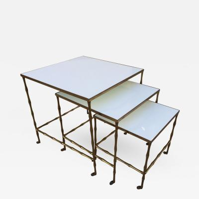 Maison Bagu s Bronze Nesting Tables by Maison Bague s
