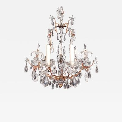 Maison Bagu s Early 20th C French Iron Tole and Crystal Chandelier