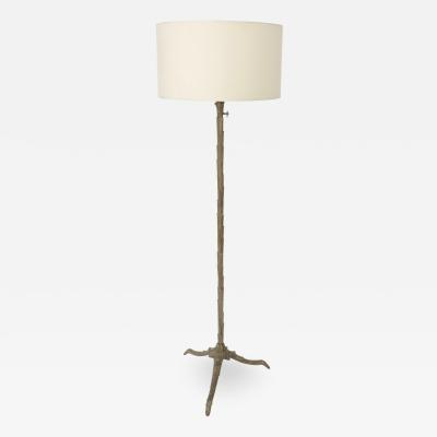 Maison Bagu s French Vintage Bronze Floor Lamp by Maison Bagu s circa 1940