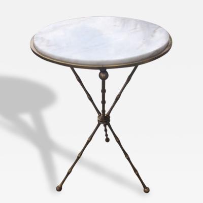 Maison Bagu s Maison Bagues Bronze Marble Tripod Table