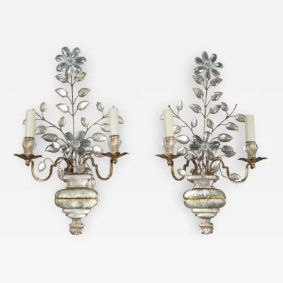 Maison Bagu s N10690 Pair of Sconces Maison Bagues France 1940s