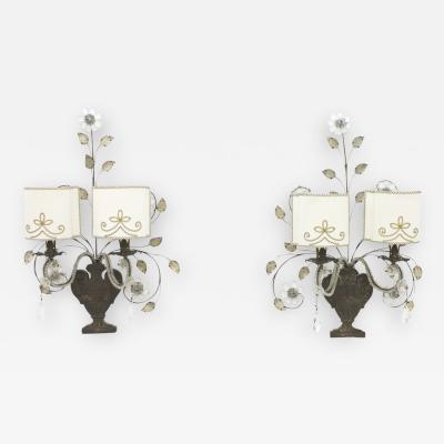 Maison Bagu s Pair of Wall Sconces by Maison Bagues France 1940