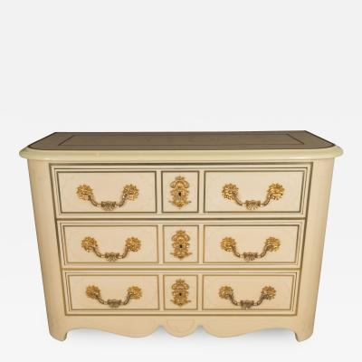 Maison Bagu s Three Drawer Commode by Bagues or Ramsey France 1970