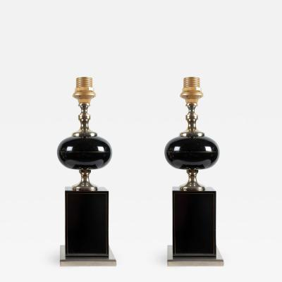 Maison Barbier Pair of table lamps by Barbier