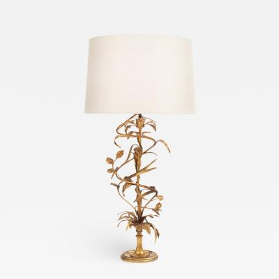 Maison Charles 1940s Gilt Table Lamp