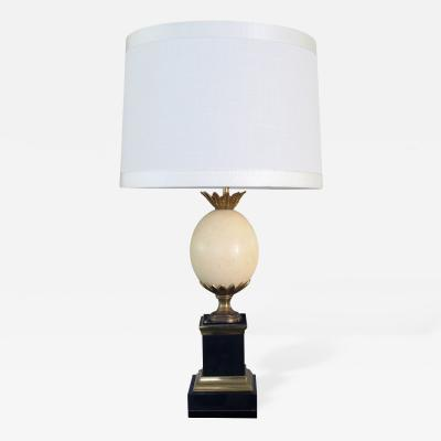 Maison Charles A Good Quality French Maison Charles Ostrich Egg Lamp with Bronze Mounts
