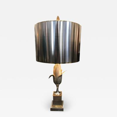 Maison Charles BRASS AND GILT BRONZE CORN LAMP BY MAISON CHARLES