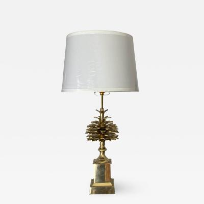 Maison Charles Brass Pomme de Pin Pinecone Lamp