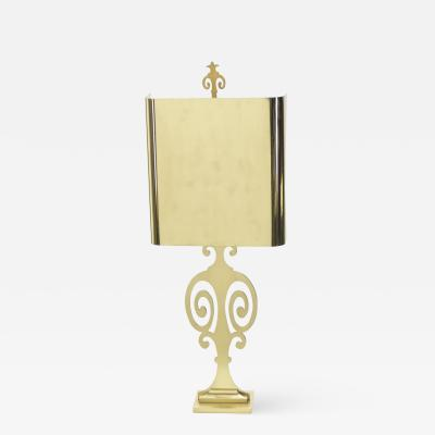 Maison Charles French neoclassical Maison Charles brass lamp 1970s