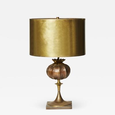 Maison Charles Grenade Bronze Table Lamp by Maison Charles