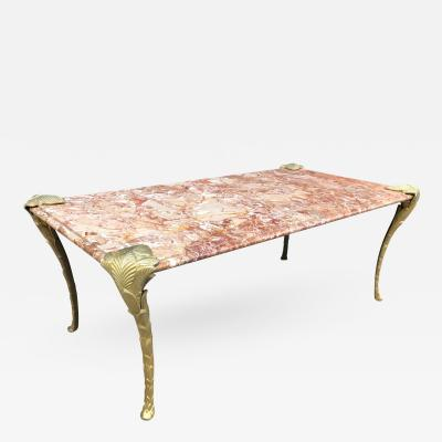 Maison Charles Maison Charles Bronze and Marble Coffee Table