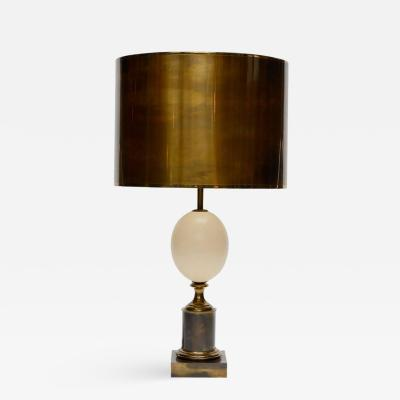 Maison Charles Maison Charles Patinated Brass and Ostrich Egg Table Lamp