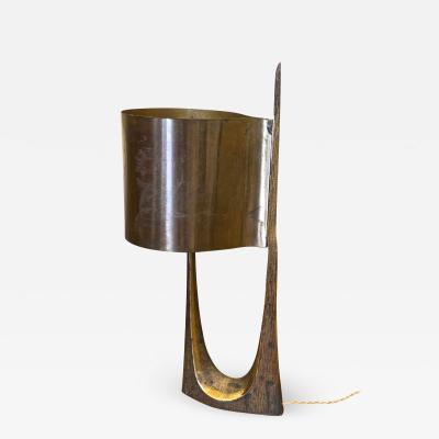 Maison Charles Maison Charles rarest stamped gold bronze lamp