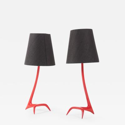 Maison Charles Matched pair of Stockholm table lamps by Maison Charles